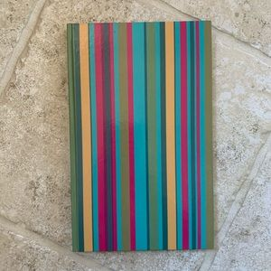 Striped hard cover lined notebook